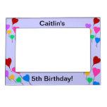 El 5to corazón del cumpleaños de los chicas hincha marcos magnéticos para fotos