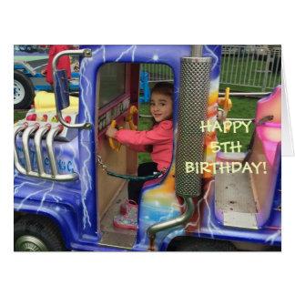 El 5to cumpleaños de Livia Tarjeta De Felicitación Grande