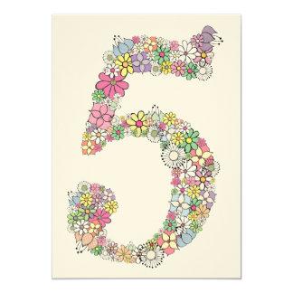 """El 5to personalizado de la fiesta de cumpleaños de invitación 5"""" x 7"""""""