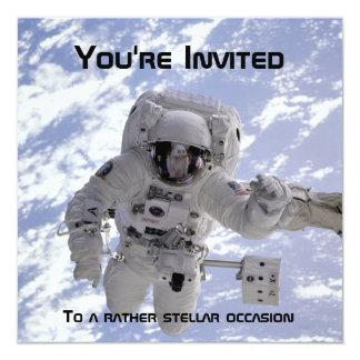 El 60.o cumpleaños del astronauta invita invitacion personal
