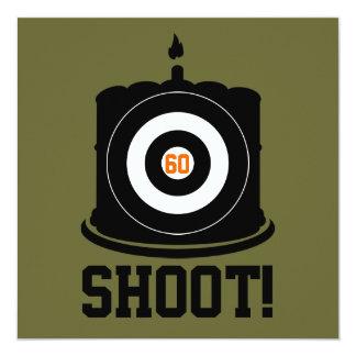 El 60.o cumpleaños del buen tirador - invitación