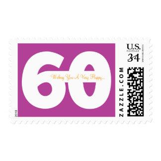 El 60.o cumpleaños feliz del jalón sella - en envio