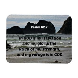 El 62:7 del salmo en dios es mi salvación y mi imán flexible