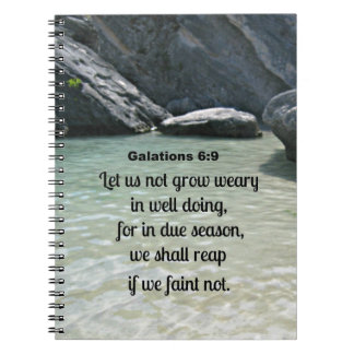 El 6:9 de Galatians nos dejó no crecer cansados… Libretas
