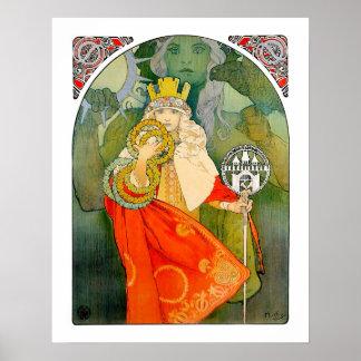 El 6to festival 1912 de Sokol por Mucha - poster