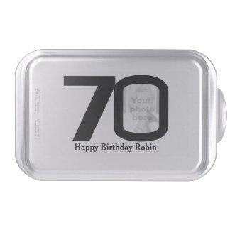 el 70.o cumpleaños añade su propia broche de la fo molde para pasteles