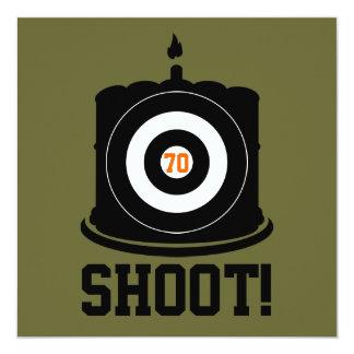 El 70.o cumpleaños del buen tirador - invitación