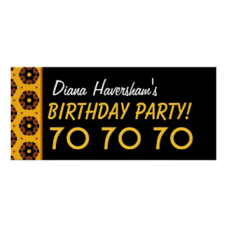 El 70.o cumpleaños del personalizado o cualquier póster