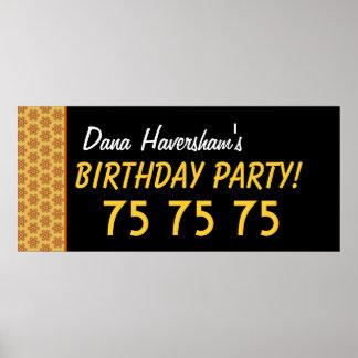 El 75.o cumpleaños del personalizado o cualquier o poster