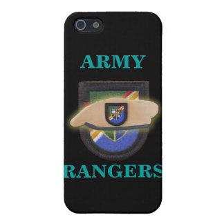 el 75.o remiendo de los guardabosques del ejército iPhone 5 carcasas