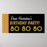 El 80.o cumpleaños del personalizado o cualquier poster