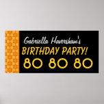 El 80.o cumpleaños del personalizado o cualquier posters