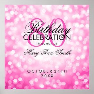 El 80.o rosa elegante de la fiesta de cumpleaños