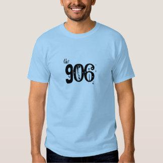 """""""el 906"""" camiseta superior azul clara de la poleras"""