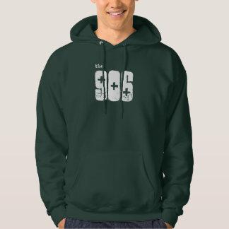 """""""el 906"""" sudadera con capucha superior verde"""