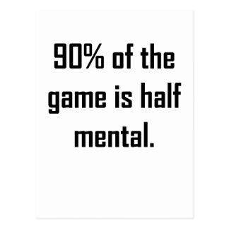 El 90 de The Game es a medias mental Tarjeta Postal