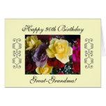 el 90.o cumpleaños de las Grande-abuelas Tarjeta De Felicitación
