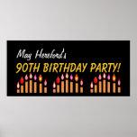 El 90.o cumpleaños del personalizado o cualquier o posters