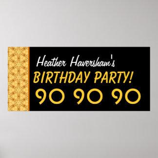 El 90 o cumpleaños del personalizado o cualquier o poster