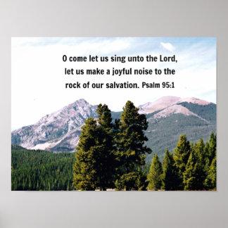 El 95:1 O del salmo viene nos dejó cantar al señor Póster