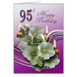 El 95.o cumpleaños de los Hellebores desea la tarj Tarjetón