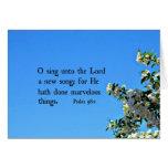El 98:1 O del salmo canta al señor… Tarjetas