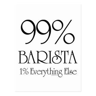 El 99% Barista Postales