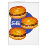 El 99¢ feliz de Jack de las hamburguesas retras de Felicitacion