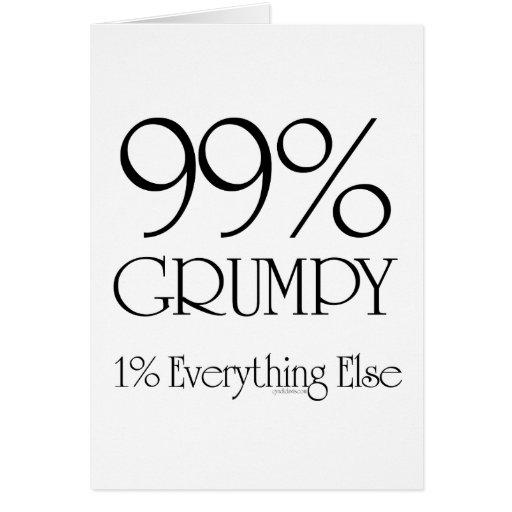 El 99% gruñón tarjeta de felicitación