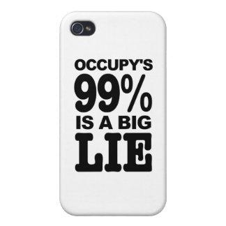 El 99 Occupy s es una mentira grande iPhone 4/4S Carcasas
