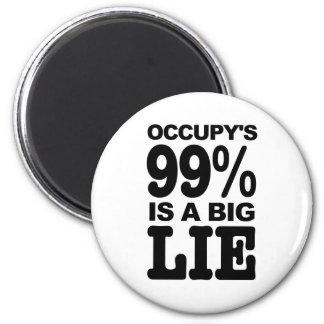 El 99% Occupy's es una mentira grande Imán Redondo 5 Cm