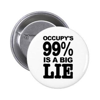 El 99% Occupy's es una mentira grande Pins