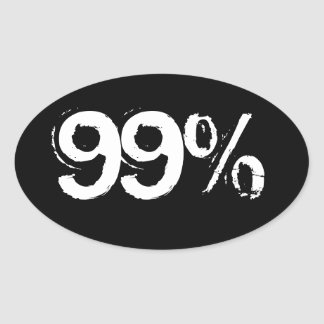 el 99% calcomania de óval