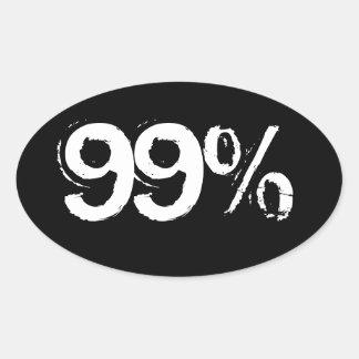 el 99% pegatina ovalada