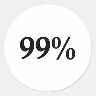El 99% pegatina redonda