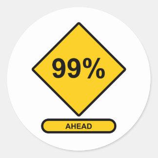 El 99 por ciento a continuación etiquetas
