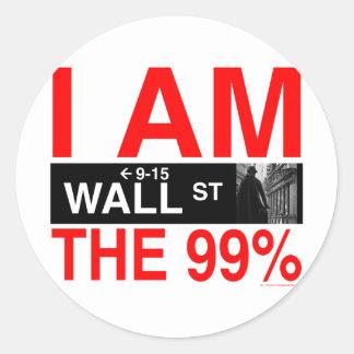 el 99 por ciento etiqueta redonda