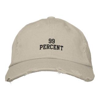 el 99 por ciento gorra bordada
