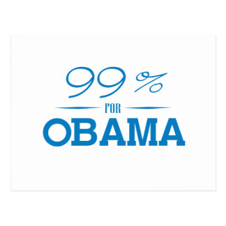 EL 99 POR CIENTO PARA OBAMA - .PNG TARJETAS POSTALES