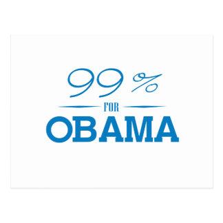 EL 99 POR CIENTO PARA OBAMA - .PNG POSTAL