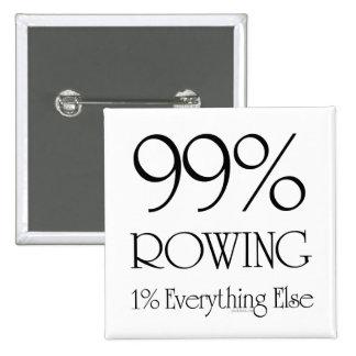 El 99% que rema pin cuadrado