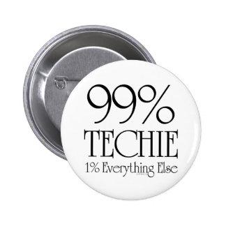 El 99% Techie Pin Redondo De 2 Pulgadas