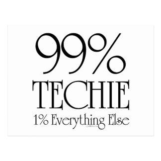 El 99% Techie Tarjeta Postal