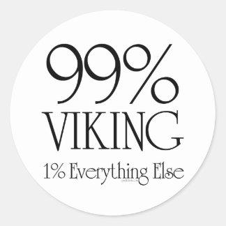 El 99% Viking Pegatina Redonda
