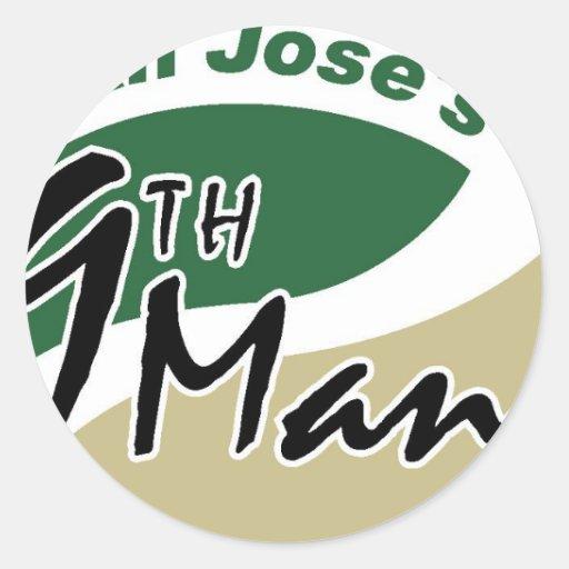 El 9no hombre de San Jose Pegatina Redonda