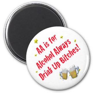 El AA está para el alcohol siempre Imán Redondo 5 Cm