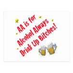 El AA está para el alcohol siempre Postales