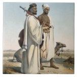 El Ababda, nómadas del desierto del este de Thebai Azulejo Cuadrado Grande