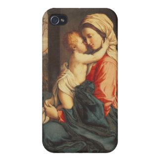 El abarcamiento de la Virgen y del niño iPhone 4 Carcasas