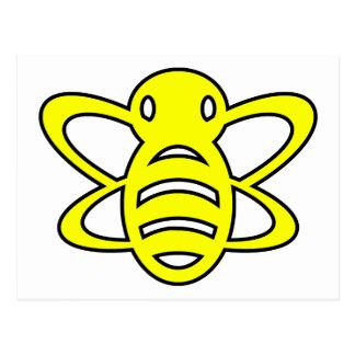 El abejorro o manosea amarillo de la avispa de rei tarjetas postales